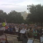 "Rallying for the cause, ""Standing for Life"" in Texas."