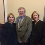 Meeting with female judges from Harris County who were honored by a resolution in honor of all female judges in Texas