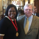 Carol Lewis and Senator Paul Bettencourt