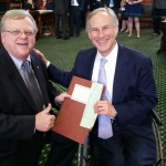 Paul with Governor Greg Abbott